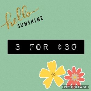 ** ♥️3 items for $30